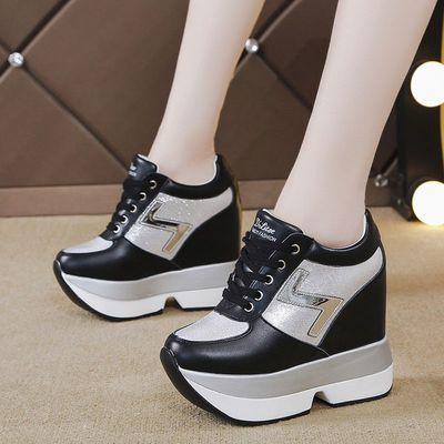 2020春季新款内增高小白鞋女厚底韩版百搭休闲鞋12cm超高跟女单鞋