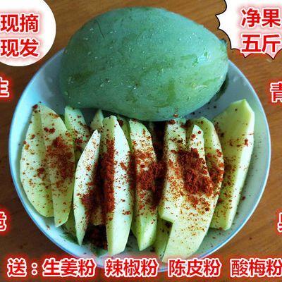 现摘现发生吃芒果酸芒果5斤包邮新鲜水果象牙芒生青芒果酸脆芒果