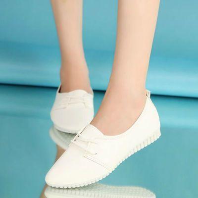清仓平底尖头小白鞋女韩版休闲时尚单鞋女系带学生女鞋子