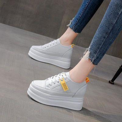 厚底小白鞋女2020夏季新款网面透气镂空百搭运动内增高休闲单鞋子