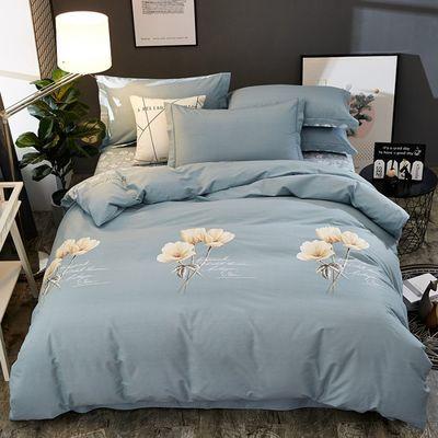 100%纯棉四件套全棉加厚磨毛4件套秋冬1.8米床单被套2.0m床上用品