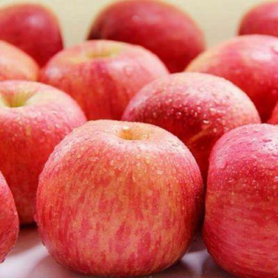 山东正宗沂源红苹果红富士苹果脆甜多汁不催红不打蜡可口三斤一箱