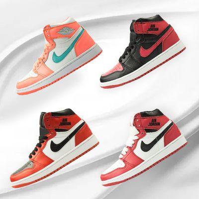 夏季新款高帮篮球运动鞋学生百搭板鞋运动板鞋超火aj女鞋时尚配色