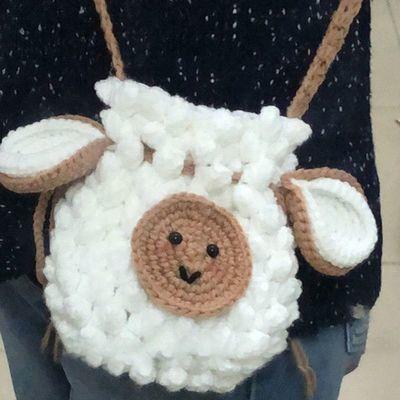 手工diy材料包编织束口包收纳小钱袋包孕期打发时间毛线包包