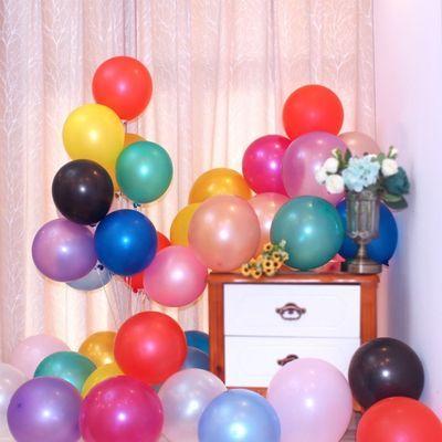 2.8克金色加厚圆形乳胶珠光气球 派对场景布置装饰气球 厂家直销