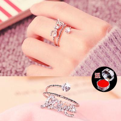 【买2送一】食指戒指女指环潮人尾戒简约开口关节戒个性大气饰品