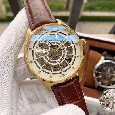 瑞士佰达翡丽精品全自动机械男表镂空设计尊贵绅士手表时尚名表