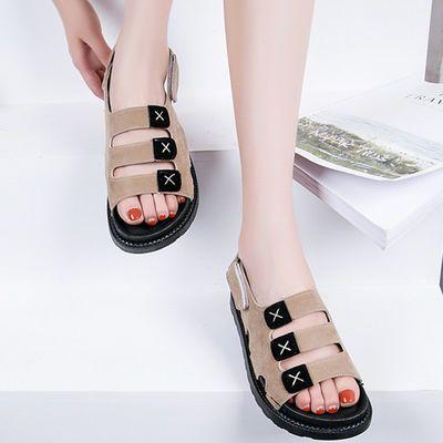 2020夏季新款松糕底内增高凉鞋厚底坡跟超高跟12cm花朵鱼嘴女凉拖