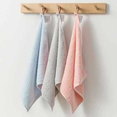 3条 洁愫儿童毛巾纯棉洗脸巾家用擦手巾成人柔软吸水不掉毛小方巾