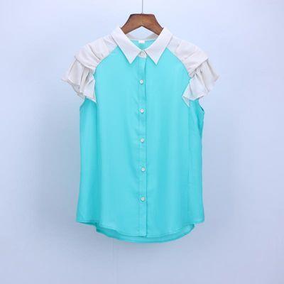 衣品家品牌折扣女装夏韩版淑女百搭修身显瘦时尚衬衫女上衣