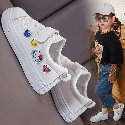 儿童小白鞋2020年春季新款女童防滑运动鞋学生鞋韩版男童休闲板鞋