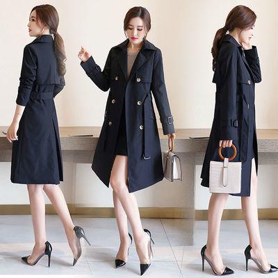 气质中长款风衣女外套2020秋季新款韩版时尚潮流女大衣薄款加大码