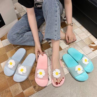 卡通拖鞋女夏韩版学生可爱软底外穿小雏菊家居鞋凉拖鞋家居鞋
