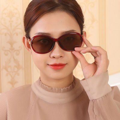 水晶石头眼镜女款时尚复古太阳镜 妈妈墨镜 清凉养眼遮阳镜
