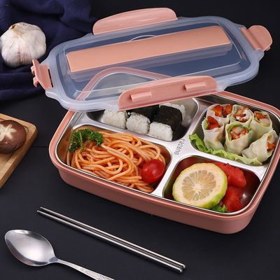 304不锈钢分格保温饭盒学生成人上班族带盖餐盒便携密封便当盒装