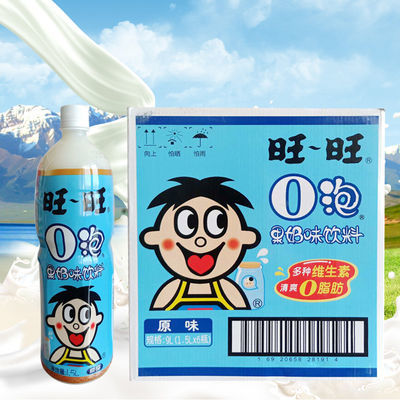 【老包装】旺旺旺仔O泡果奶1.5L装125ml礼盒低糖高纤零脂肪料品