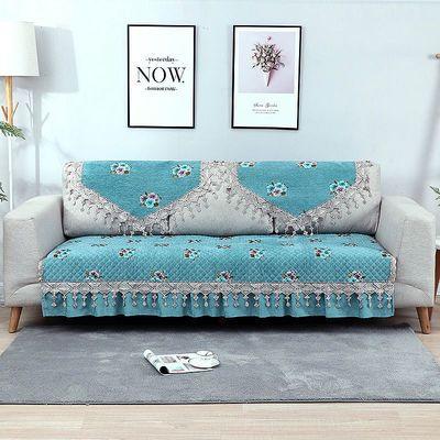 雪尼尔中欧式沙发垫套罩美式奢华防滑四季通用全套雕绒坐垫