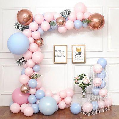 马卡龙色加厚气球批发哑光圆形气球节日派对婚房创意宝宝生日布置