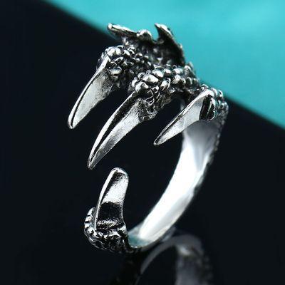 〈买一送三〉韩国合金夸张龙头时尚个性学生戒指男士霸气食指指环