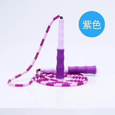 爆款绳彩飞扬花式学生儿童成人跳绳运动健身男女健身减肥竹节珠节