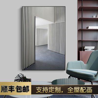 几何元素 现代轻奢建筑艺术装饰画北欧客厅墙壁挂画玄关壁画