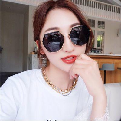 抖音同款眼镜女时尚太阳镜女韩版潮复古风网红墨镜女防紫外线