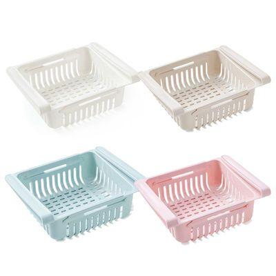 收纳冰箱托盘篮可伸缩多功能收纳盒果蔬沥水篮茶几储物盒收纳篮子