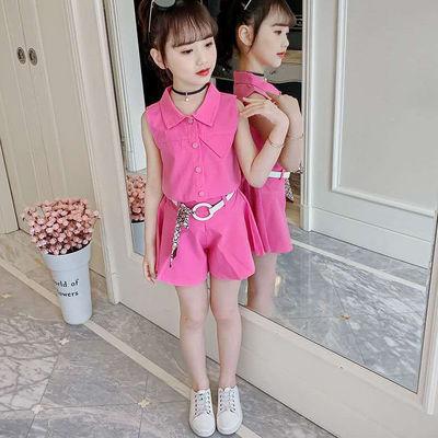 女童夏装套装2020新款儿童夏季洋气衣服大童装女孩韩版时髦裙裤潮
