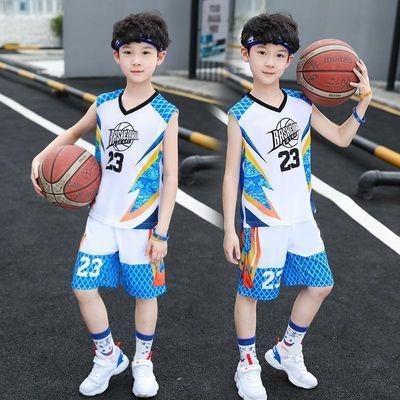 男童篮球服套装2020新款儿童无袖夏装男孩夏天帅气速干背心中大童
