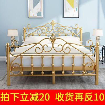 欧式简约铁架公主床双人环保铁艺床单人儿童1米 1.5米 1.8米铁床