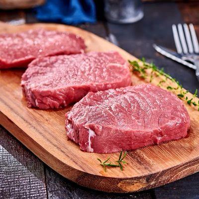 150克原切调理菲力牛排家庭套餐送刀叉黄油酱包儿童新鲜牛排批发