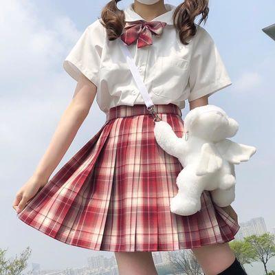 现货多色【jk两件套】凝茶新款jk制服韩版学生格子裙女百褶裙套装