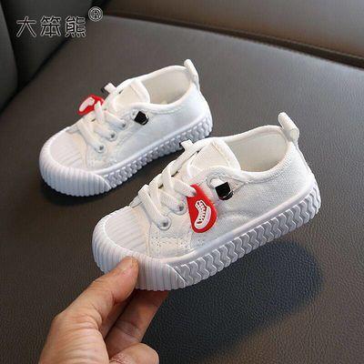 儿童帆布鞋男童板鞋女童小白鞋套脚休闲鞋2020新款春季宝宝饼干鞋