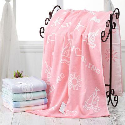 婴儿浴巾纯棉双层纱布可爱被芯儿童超柔软吸水新生儿毛巾被盖毯薄