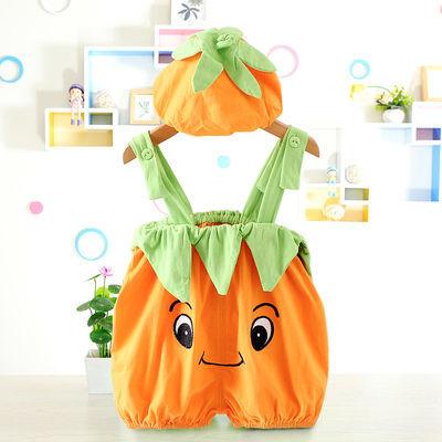 新生儿连体衣夏季婴儿哈衣宝宝爬服水果西瓜造型衣纯棉拍照衣服薄