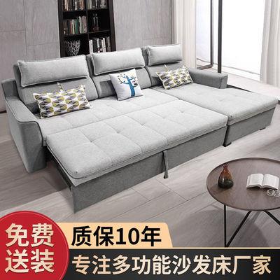 可折叠沙发床坐卧两用客厅小户型储物收纳转角布艺贵妃多功能沙发