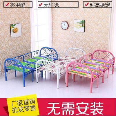 折叠儿童床带护栏多功能拼接女孩公主床简易小床铁艺单人床男孩儿