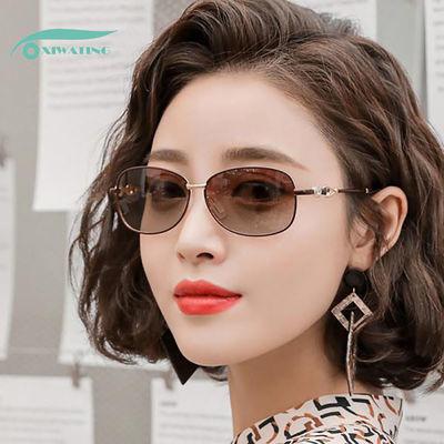 新款防紫外线偏光小框小脸太阳镜女潮韩版ins优雅复古墨镜女开车