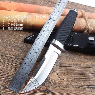 户外战术直刀防身开锋野外生存短刀多功能高硬度刀子开封军工刀随