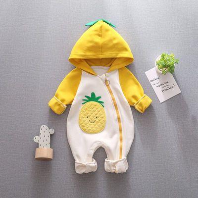 动物造型连体衣纯棉薄款婴儿衣服0-1-2岁男宝宝女宝宝爬服拍照服