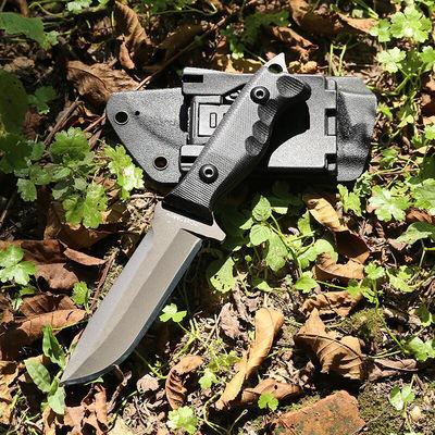 户外战术直刀防身开锋野外生存短刀多功能高硬度刀子开封军工刀特