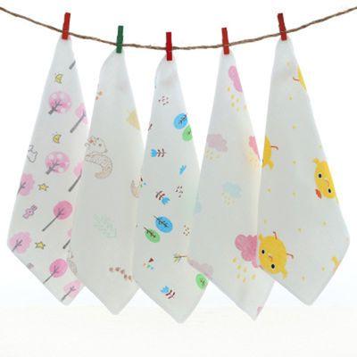 宝宝小毛巾透气手帕手绢婴儿用品纯棉纱布口水巾喂奶巾围嘴小方巾
