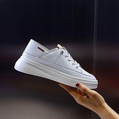 真皮小白鞋女新款厚底透气女鞋网红百搭运动休闲鞋防臭平底鞋白鞋