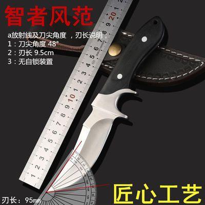 户外战术直刀防身开锋野外生存短刀多功能高硬度刀子开封军工刀荒