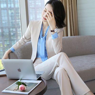 职业装女套装2020新款ol时尚气质高端商务西装正装长袖西服工作服