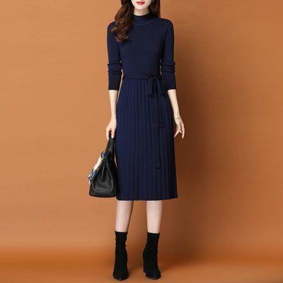 女装2020新款秋冬装中长款毛衣裙过膝打底衫女士毛衣针织连衣裙潮
