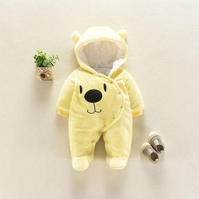 男女婴儿0-3-6个月宝宝衣服0-1岁秋冬装动物造型衣婴儿连体衣爬服