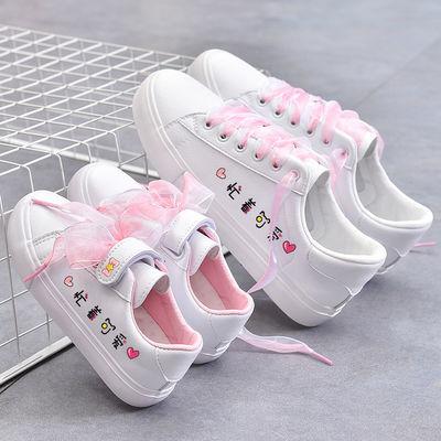 亲子鞋母女小白鞋女2020春秋女鞋春季单鞋女童板鞋百搭休闲童鞋女