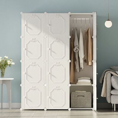 简易衣柜钢管加粗固加厚组装塑料布挂全钢架儿童单人收纳储物柜子