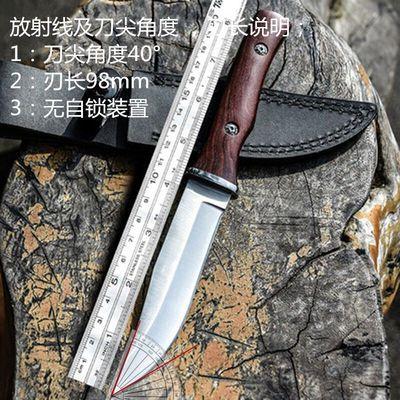 户外战术直刀防身开锋野外生存短刀多功能高硬度刀子开封军工刀具